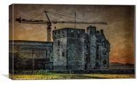 Newark Castle , The Old and The New, Canvas Print