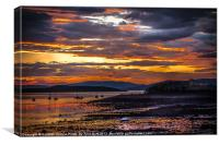 Sunset at Fairlie on the Clyde, Canvas Print