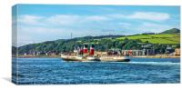 Paddle Steamer The Waverley, Canvas Print