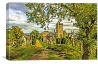 Church of  Holy Rude Graveyard, Canvas Print