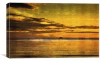 Autumn Sunset over Ailsa Craig, Canvas Print