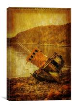 Wreck at Diabaig Loch Torridon, Canvas Print