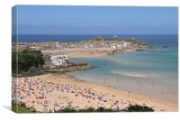 Summer, St Ives, Canvas Print