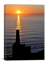 Sunset, Wheal Coates, Chapel Porth, Canvas Print