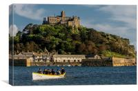 The Gig 'St Aubyn' at St Michael's Mount, Canvas Print