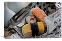 Sushi And Chips, Canvas Print