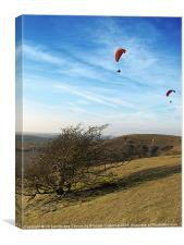 Hang gliding at the Downs, Canvas Print