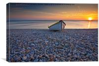 Chesil Beach Sunset, Canvas Print