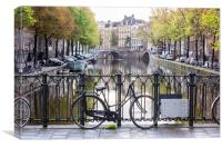 Amsterdam Canals, Canvas Print