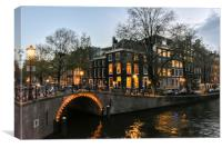 Amsterdam by Night, Canvas Print
