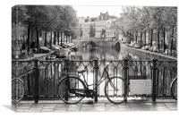 Amsterdam in Black & White, Canvas Print
