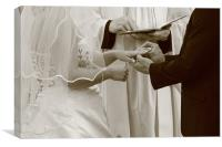 Exchanging of the rings, Canvas Print