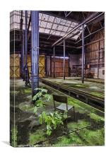 Decaying industrial building, Canvas Print