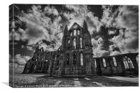 Whitby Abbey from the north, Canvas Print