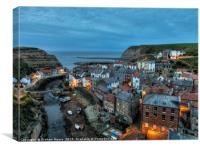 Staithes evening, Canvas Print