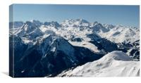 Courchevel from La Plagne, Canvas Print
