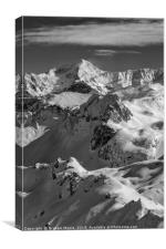 La Plagne monochrome, Canvas Print