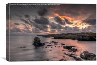 Anglesey sunset HDR, Canvas Print