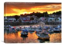 Saundersfoot Harbour Sunset, Canvas Print