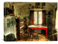 The Writing Shed, Dylan Thomas, Canvas Print