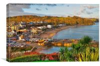 View over Saundersfoot, Canvas Print