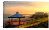 Bandstand and South Beach Tenby, Canvas Print