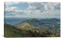 Malvern Hills West , Canvas Print