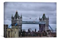 The tower of london, Canvas Print