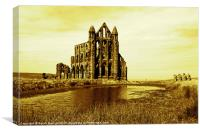 Whitby Abbey in Sepia, Canvas Print