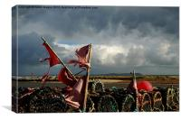 Ragged Flags and Lobster Pots, Canvas Print