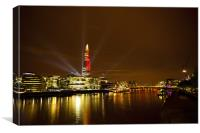 Shard's Inauguration in Red, Canvas Print