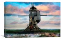 Windmill Watercolour, Canvas Print