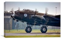 Canadian Lancaster Bomber, Canvas Print