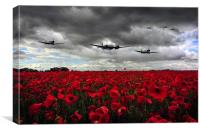 Spitfires And Blenheim , Canvas Print