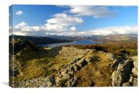 Lake Windermere from Post Knott, Canvas Print