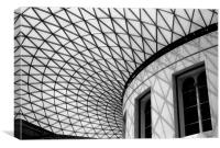 Roof of British Museum, Canvas Print