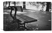 Lonely seat in park, Canvas Print