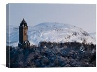 Wallace Monument & Dumyat, Stirling, Scotland, Canvas Print