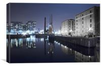 Canning Dock Night, Canvas Print
