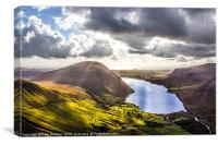 Wastwater from Scafell Pike, Canvas Print