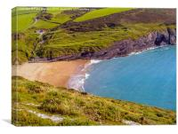 Mwnt Bay, Ceredigion, Wales, Canvas Print