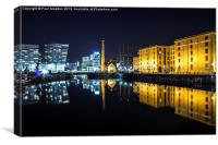 Canning Dock clear night, Canvas Print