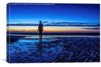 Sunset at Crosby Beach, Canvas Print