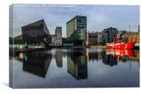 Canning dock - Liverpool, Canvas Print