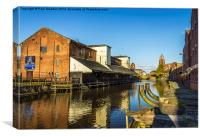 Wigan Pier In The Sun, Canvas Print