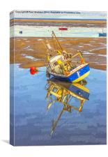 Small boat at Hoylake, Canvas Print