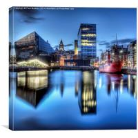 Canning Dock Liverpool - HDR, Canvas Print