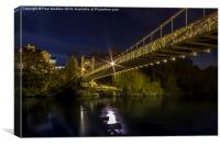 Queens suspension bridge - Chester, Canvas Print