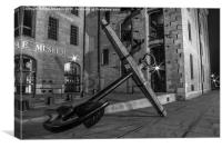 Liverpool Maritime Museum Anchor, Canvas Print