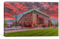 Red Sky Over Anfield, Canvas Print